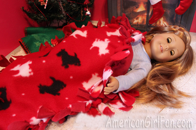 Make a doll no sew blanket