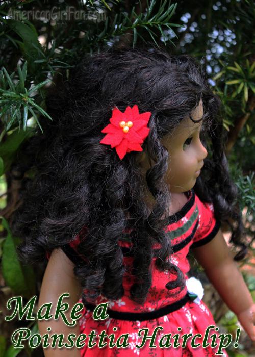 Make a Doll Poinsettia Clip