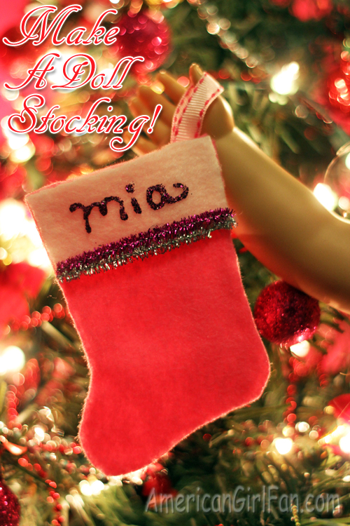 How to make a stocking for dolls