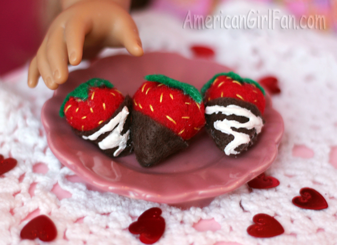 American Girl Doll Chocolate Covered Strawberries Craft