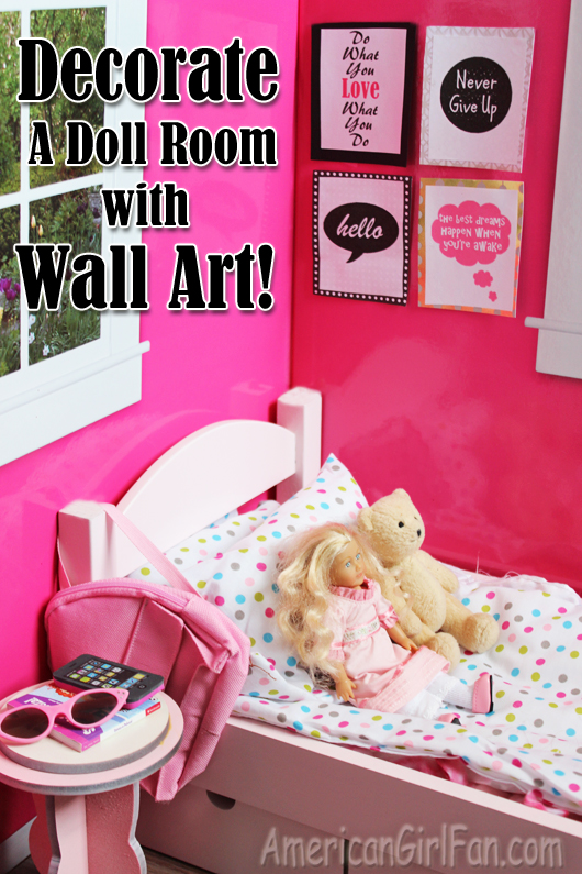 Children S Party Box Wall Art For Girl S Bedroom: Doll Craft: Decorate Your Doll's Room With Wall Art (Free