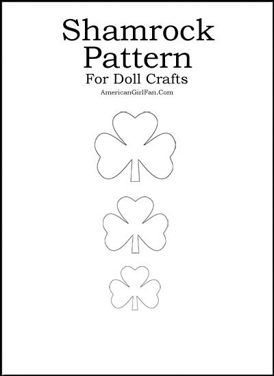 Shamrock Pattern For American Girl Crafts