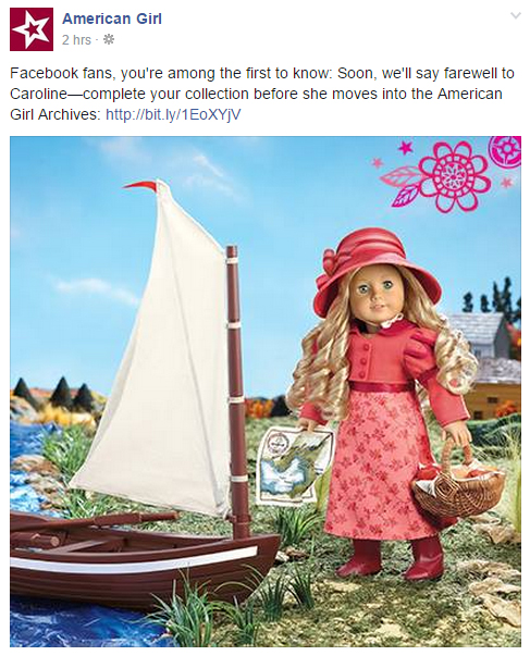 American Girl Caroline Retirement Announcement