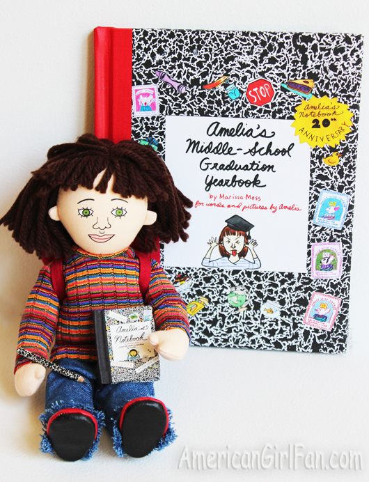 Amelia with notebook