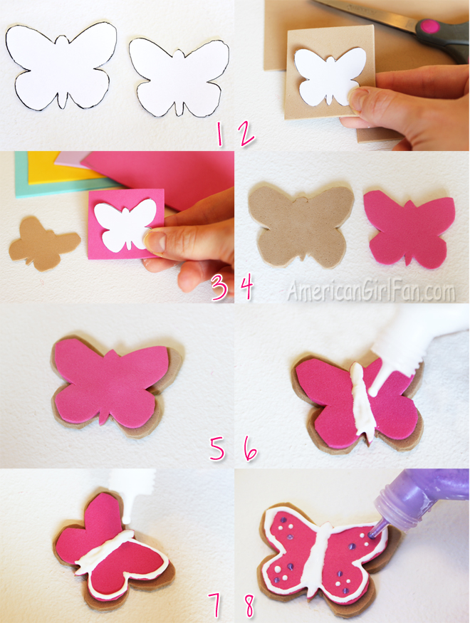 Steps For Butterfly Doll Cookies