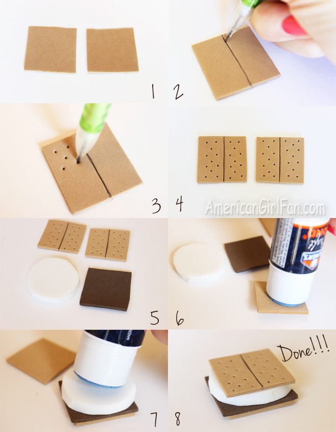 Doll Food Craft How To Make S Mores Americangirlfan