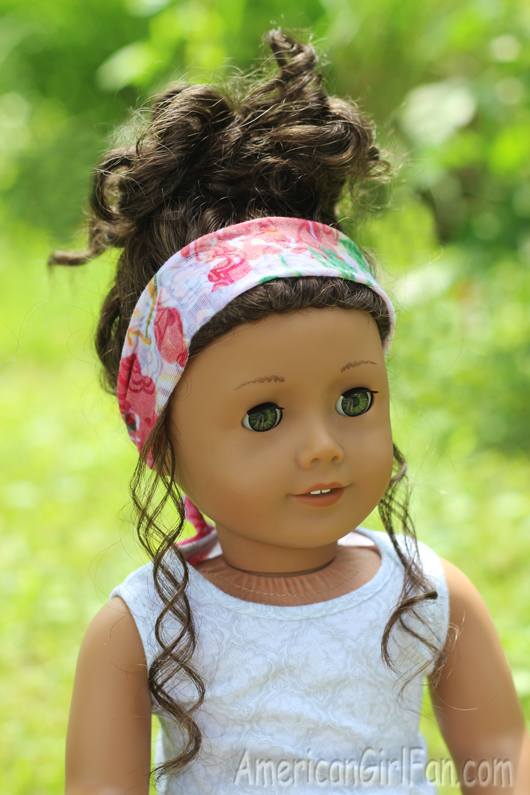 Doll Craft How To Make A Head Scarf No Sew