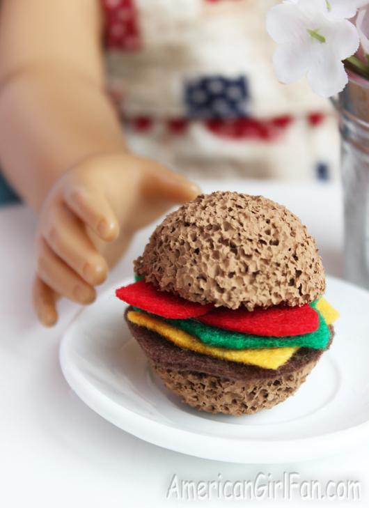 American Girl Doll Hamburger