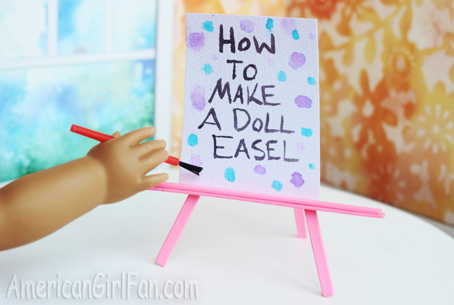 How To Make A Painting Easel For Dolls
