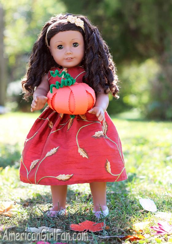 Paper Pumpkin Doll Craft (via AmericanGirlFan.com click through for tutorial)
