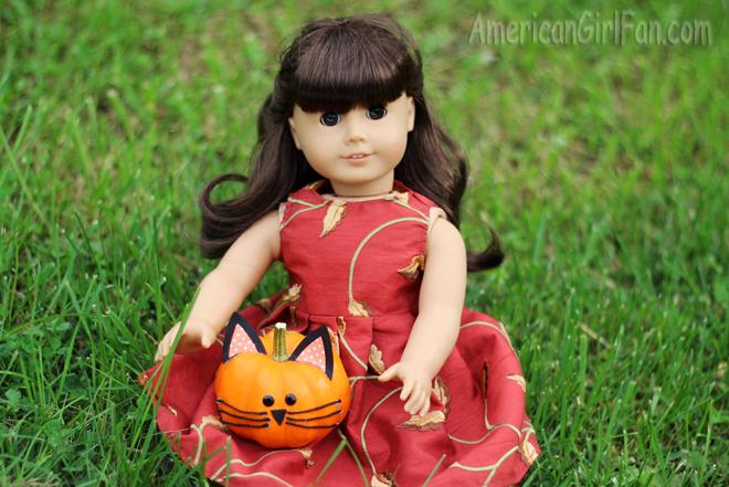 Samantha With Pumpkin