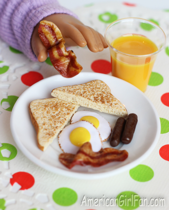 American Girl Doll Eggs and Bacon