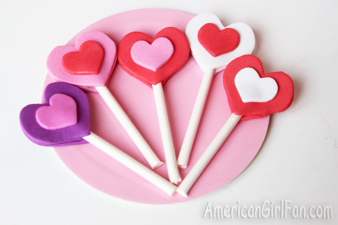 American Girl Doll Valentine's Day Lollipop Craft