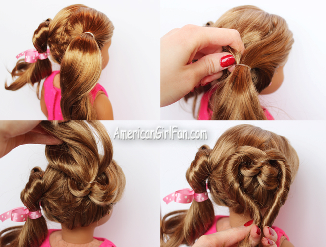 American Girl Doll Heart Hairstyle