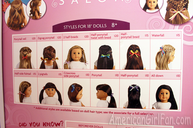 Ag Hair Styles: Extra American Girl Columbus Store Pictures! (AmericanGirlFan