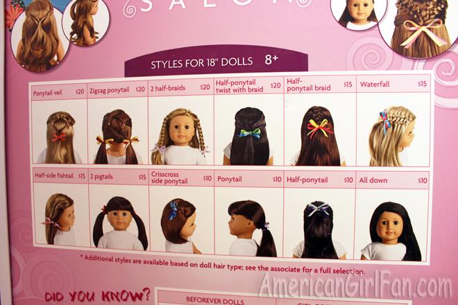 American Girl Doll Hair Salon Hairstyles