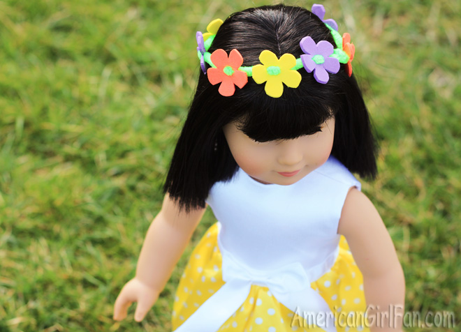 American Girl Doll Flower Crown Craft
