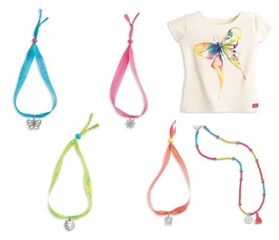 Lea Shirt Bracelets and Necklace