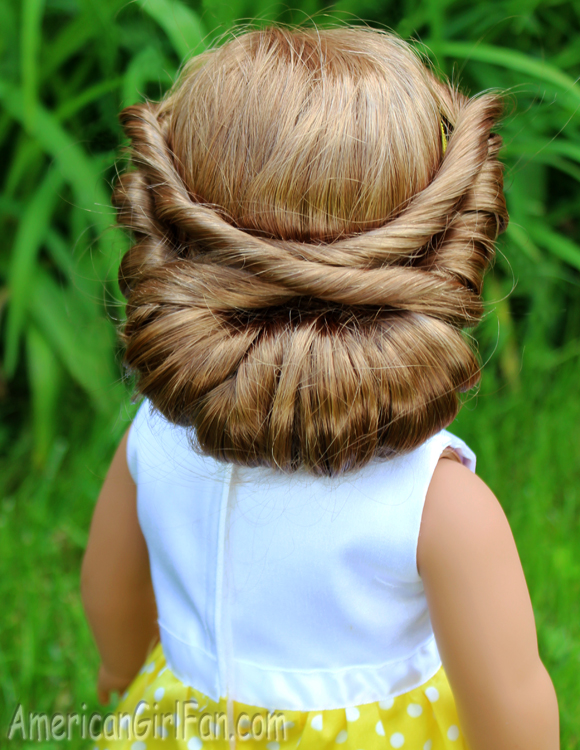 Doll Hairstyle Wrapped Headband Updo Americangirlfan