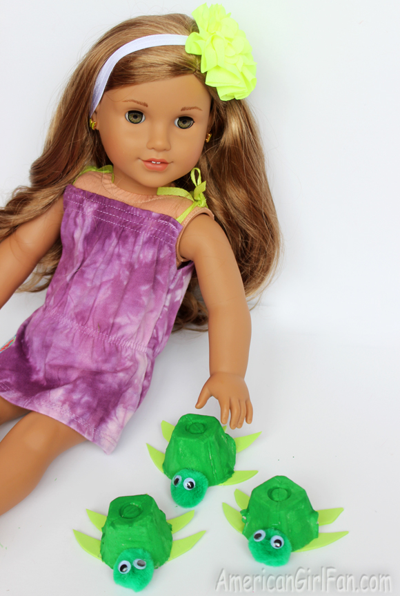 American Girl Doll Craft How To Make A Turtle