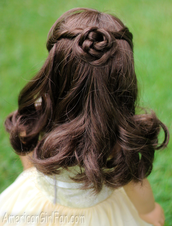 styling american doll hair doll hairstyle the half up braided bun americangirlfan 4407