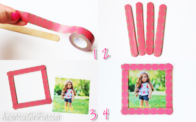 Doll Craft: How To Make Easy Picture Frames! (AmericanGirlFan)