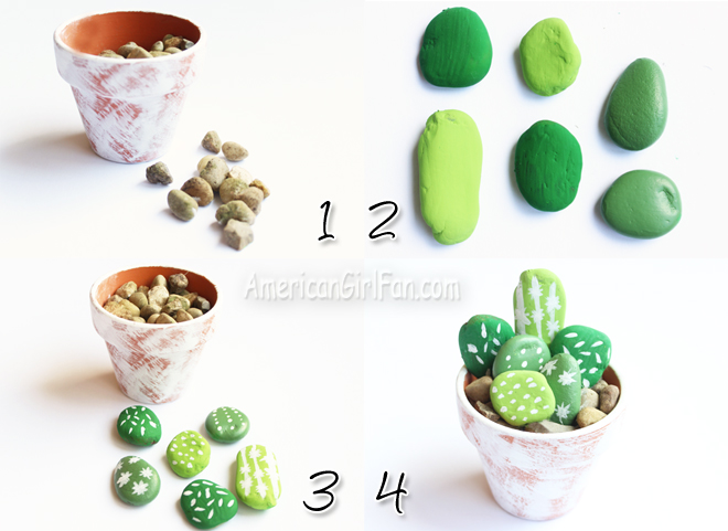 American Girl Doll Craft How to Make A Mini Cactus Plant
