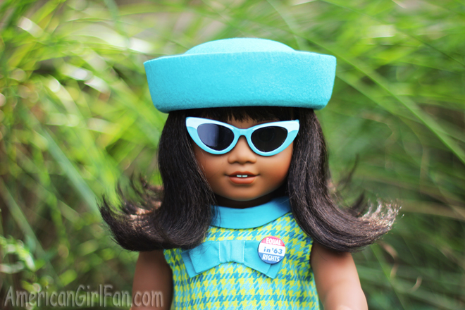 "American Girl Doll Melody Sunglasses Blue Accessory Clothes For 18"" Doll New"