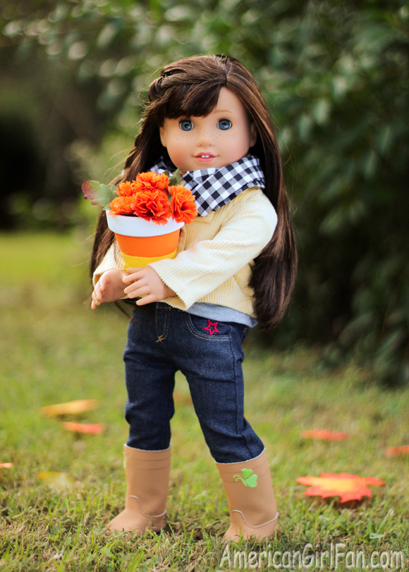 American Girl Doll Craft Candy Corn Flower Pot