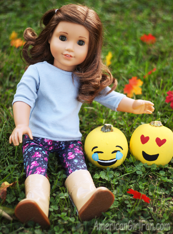 American Girl Doll Craft Emoji Pumpkins