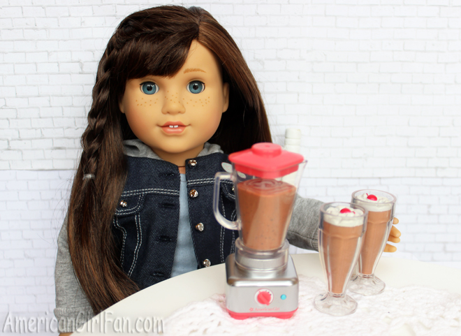 American Girl Doll Blender and Milkshake Set