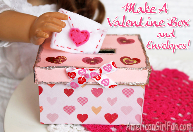 american girl doll valentines day craft