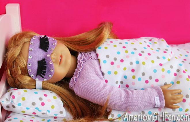 American Girl Doll Craft How To Make A Sleep Mask