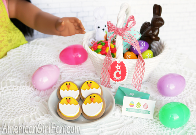 American Girl Doll Easter Chick Cookies