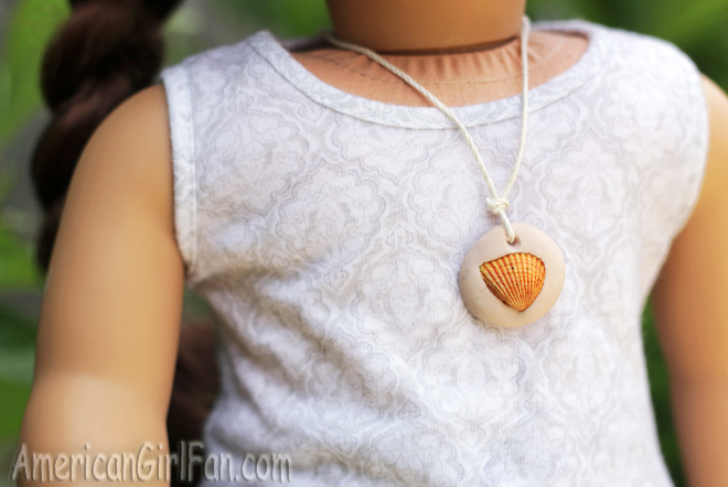 American Girl Doll Craft Seashell Necklace