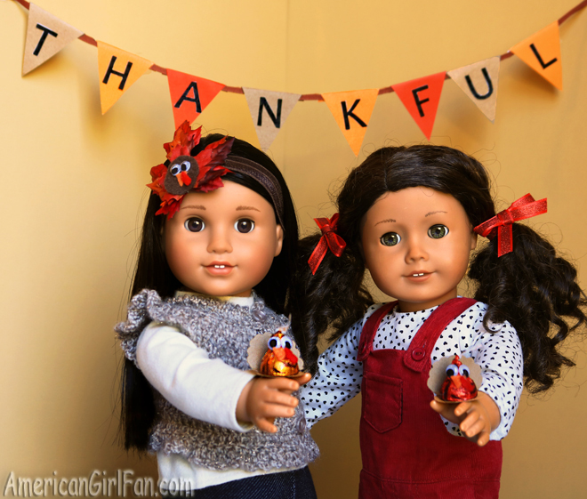 Doll Crafts Turkey Kisses And Thanksgiving Headband Americangirlfan