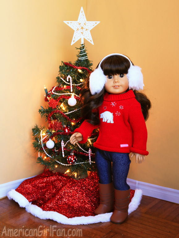 American Girl Polar Bear Sweater Set